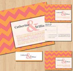 invit design, chevron modern, wedding invitations, blue chevron, modern weddings, inkoverpap invit, inkoverpap chevron, chevron wedding, wedding invitation design