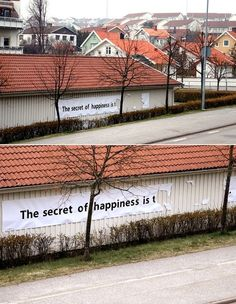 The real secret of happiness