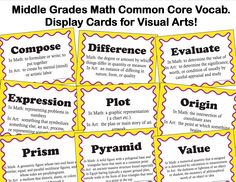The smARTteacher Resource: Common Core Vocabulary for Middle School Visual Arts