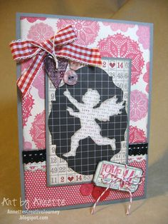 valentin card, craft, card tim, cupid, holtz idea, crazi card, tim holtz, scrapbook, holtz valentin