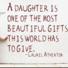 A daughter...