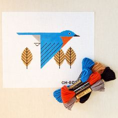 Charley Harper + cross stitch? I LOVE IT - but why are they so damned expensive?