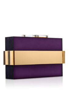 """Fall 13 clutch collection by Rauwolf - """"orbit"""" clutch, mirrored amethyst and gold"""