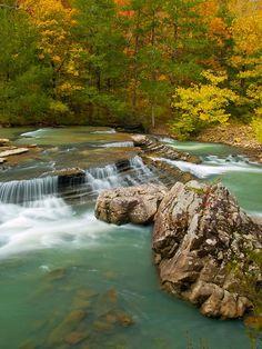 Six Fingers Falls in Ozark National Forest, Arkansas