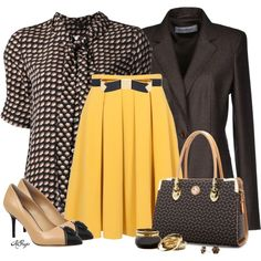 Brown n' Mustard Fall Style, created by kginger on Polyvore