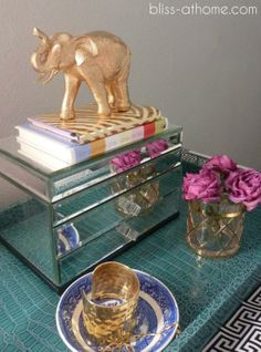 DIY gold elephant