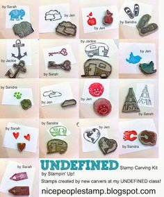 Get crafty - DIY your own rubber stamp with Stampin' UP!'s new Undefined Stamp Carving Kit.