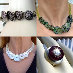 Upcycled Vintage Button Jewelry