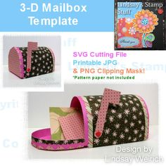 3-D Mailbox Template Price:   $3.00