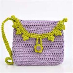 -Small Bag - Purple and Green - Crochet Purse - Girl Fashion - Eggplant ...