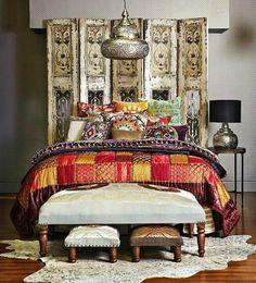Exotic bedroom.