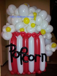 Popcorn Balloon Sculpture...wouldn't be too hard to turn this into a giant mug of beer overflowing with suds.