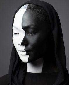 Halloween makeup, amazing profile