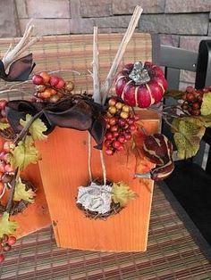 DIY Hallowen Crafts : DIY Wood Pumpkins