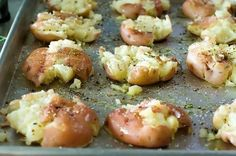 Crash Hot Potatoes ~ from the Pioneer Woman, best potatoes ever... they get crispy  golden in the oven.