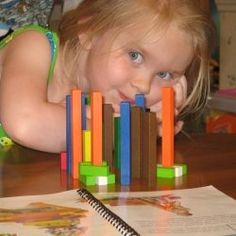 Cuisenaire Rods are one of my children's favorite Hands-on Math Manipulatives