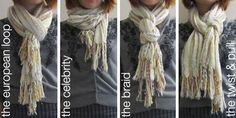25 ways to tie a scarf....loved these ways.