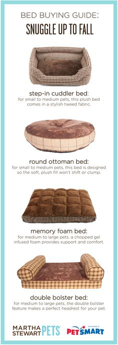 #Dog beds for every type of size and sleeper - neutral colors will coordinate with almost any home decor. #marthastewartpets available at #PetSmart #petcare #pettips