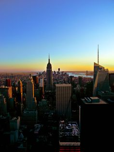 To see NY from The Top of Rock at Sunset