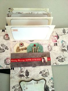 Holiday Clipboard Mini Album by Sherry Mendoza using Holiday Jubilee #lwp #holidaycrafting