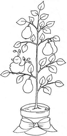 pattern, digit stamp, digital stamps, pear tree, christma