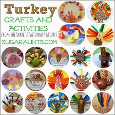 Sugar Aunts: Turkey Crafts and Activities for Kids