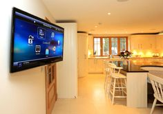 #Control4 install automating the home. CCTV system available onTVs & Control4 interfaces. Client loves it. via @Smarthomestv