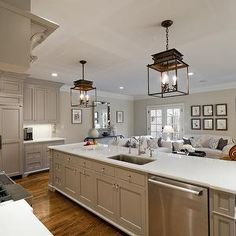 Interior design inspiration photos by Andrew Roby General Contractors. #kitchen #design