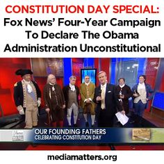 As Fox News champions their own warped version of the Constitution, we're calling them out on all the ways they tried to baselessly accuse the Obama administration of being unconstitutional.