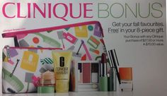 Starting in 5 days! Clinique Bonus time at Macys. http://clinique-bonus.com/macys/ Yours with $27.00 purchase. Pre-order now.