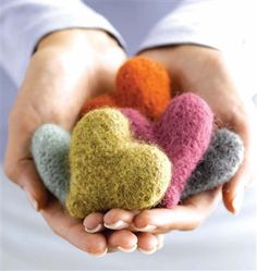 Felted Heart Milagros - Knitting Daily
