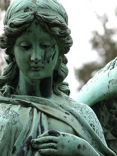 ☫ Angelic ☫  winged cemetery angels and zen statuary - by Astrid
