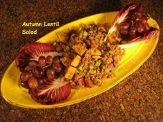 Chef Ellie Espo captures the autumn season with her Autumn Lentil Salad that incorporates butternut squash into the recipe.