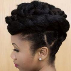 Natural Hair twists and braid updo