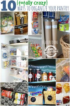 10 {Unconventional} Ways To Organize your Pantry