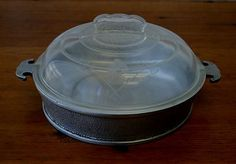"$75.00 Vintage Guardian Service Ware Aluminum Cookware-9"" Breakfast Fryer + Glass Lid"