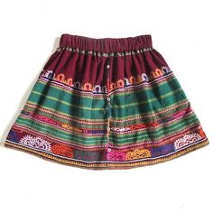 Short Skirt from Vintage Embroidered Cotton