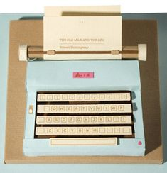 Miniature typewriter #crafts #diy #miniature #typewriter #paper