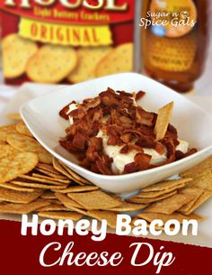 Honey Bacon Cheese Dip! Simple 3 ingredient dip. It's all in the name #dips #bacon #appetizers