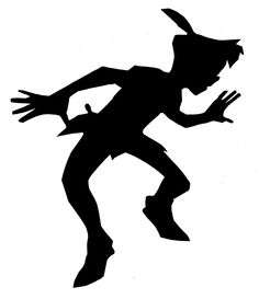 This is a template I made that can be used to project the shadow of Peter Pan with a lamp.