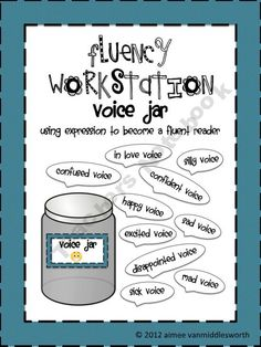 Fluency Workstation Voice Jar  My kids had so much fun at this station.  The only problem was that it sometimes got a little noisy.  At least they were on task.