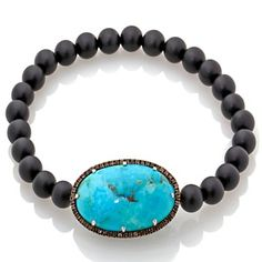 """Rarities: Fine Jewelry with Carol Brodie Blue Turquoise and Gemstone 7"""" Bracelet at HSN.com."""