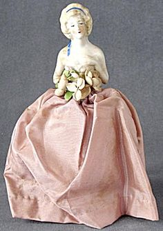 Vintage  Half Doll Pin Cushion in Gown