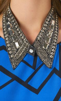 #embellished #collar #necklace #fall #styles #gno www.shoppublik.com