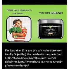 Greens. Detox, get skinny, get healthy. Just do it!  http://hautemamawraps.myitworks.com/shop