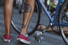 #tattoo #calf #bike