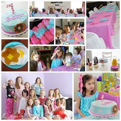 Pancakes & pajamas party - this has awesome ideas!  Good game ideas