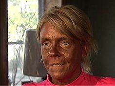 What 10 years in a tanning booth will do to you. Whoa.