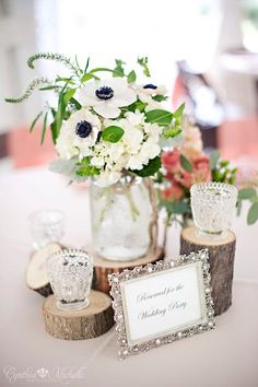 rustic home made centerpieces