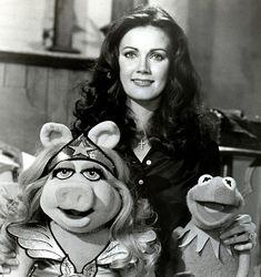 Lynda Carter AKA Wonder Woman on The Muppet Show.